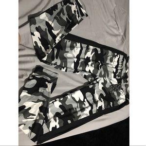 Black& White Camo sweatpants UNISEX